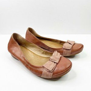 Naya Rapsody Bow Toe Ballet Flats US 11 Brown Tan